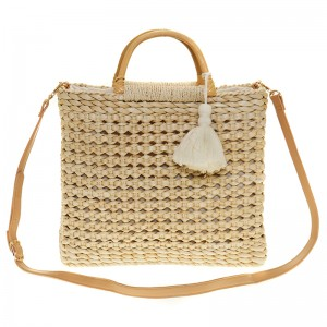 Wicker handbag , handmade
