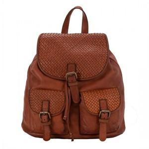 Leather Backpack , made in Italy
