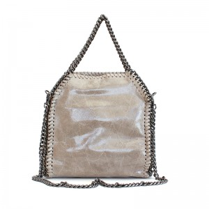Leather Shoulder Bag with a chain
