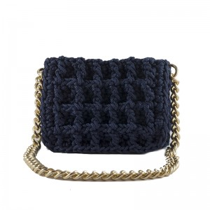 Blue Hand woven shoulder bag medium Ιππολύτη